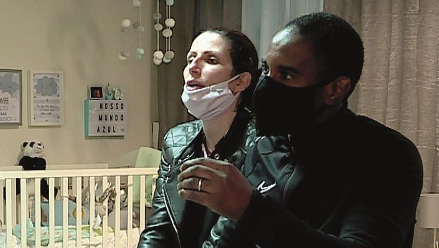 Flaide Jorge e a mulher, Vânia, foram entrevistados pelo CM em fevereiro