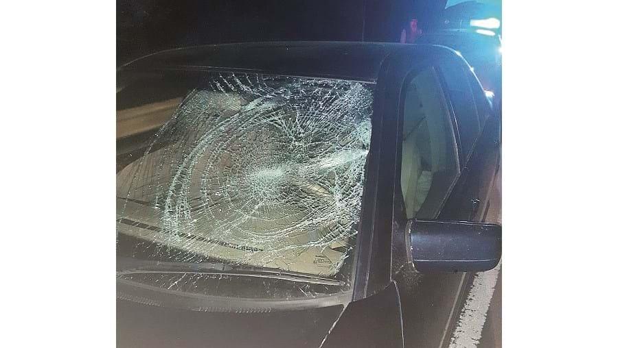Marcas no carro mostram colisão