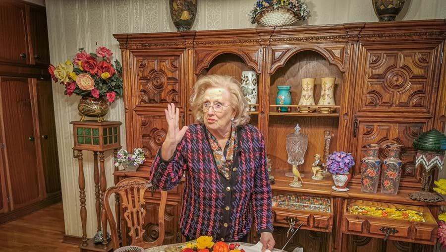 Maria Emília Teixeira , de 94 anos, viveu momentos de terror às mãos dos assaltantes. Um deles agrediu-a