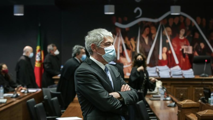 José Sócrates em tribunal