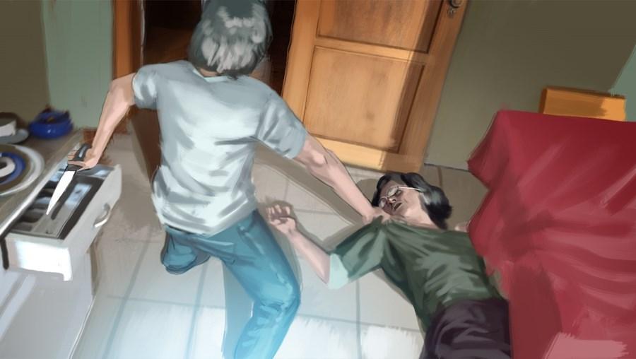 Filho salvou mãe de ataque do pai
