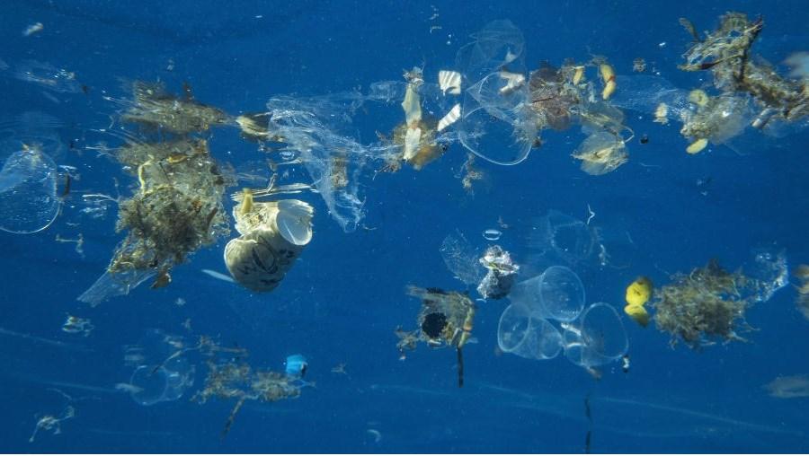 Poluição oceano