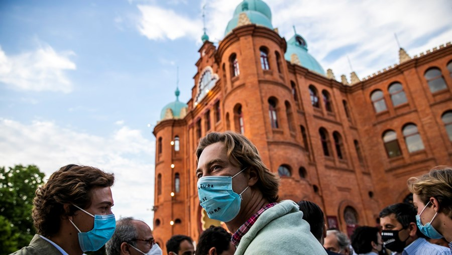 Profissionais da tauromaquia também protestaram no ano passado junto ao Campo Pequeno, em Lisboa