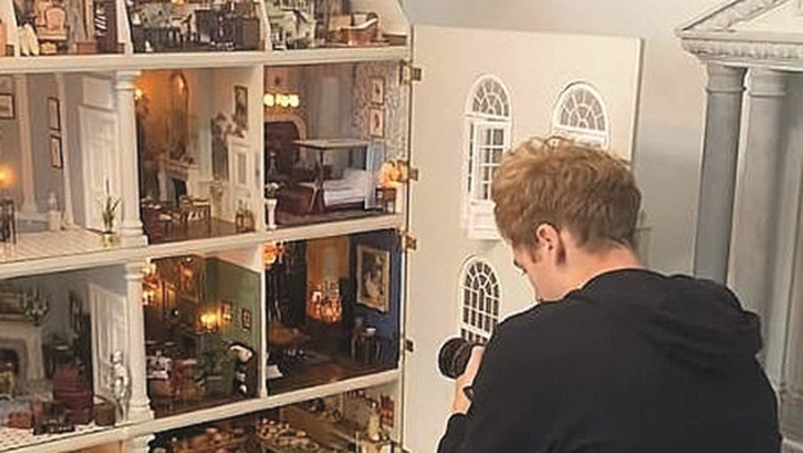 Casa de bonecas, partida, anúncio, Airbnb