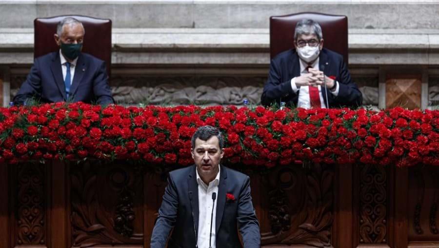 André Silva nas comemorações do 25 de Abril no Parlamento