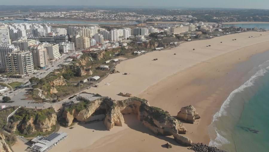 Praia de Portimão, no Algarve