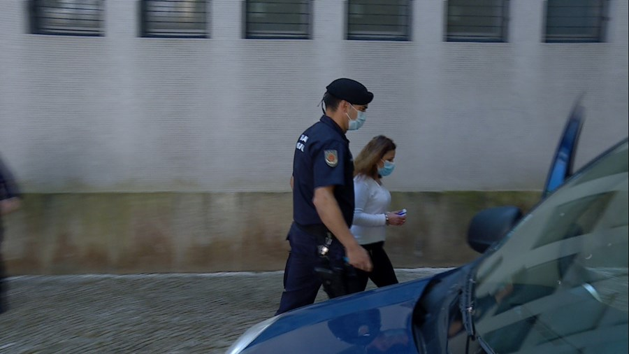 Ana Costa, de 45 anos, quarta-feira no Tribunal de Aveiro