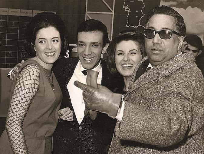 Artur Garcia com Simone de Oliveira, Madalena Iglésias e o tenor Motta Pereira
