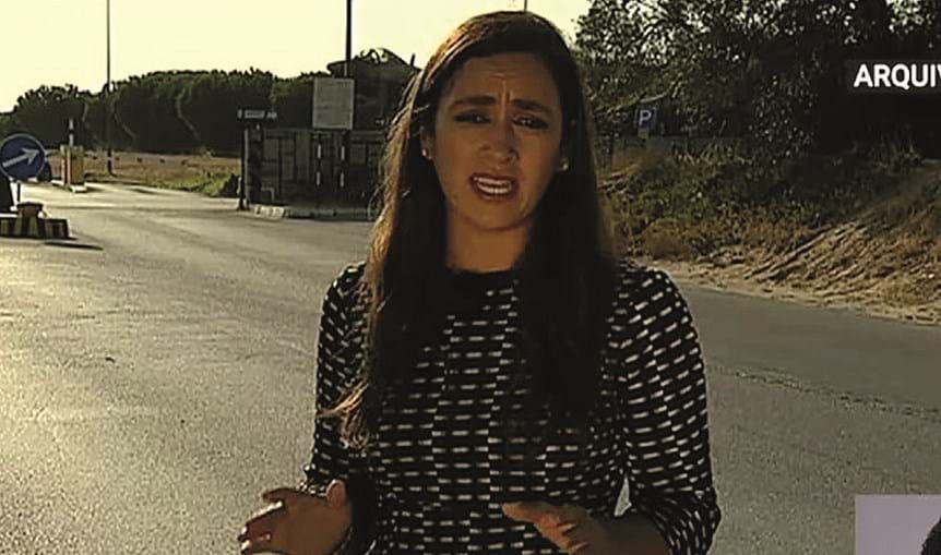 Jornalista Soraia Ramos durante gravações da investigação para RTP