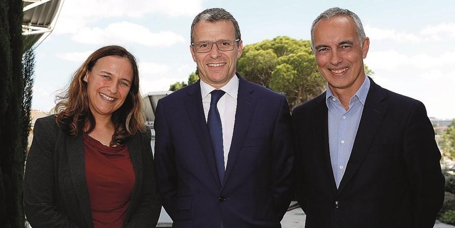 Ana Dias, Gonçalo Reis (o ainda presidente da RTP) e Hugo Figueiredo
