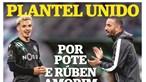 Plantel do Sporting unido por Pote e Rúben Amorim