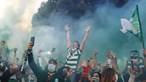 Enorme nuvem de fumo verde na receção da equipa do Sporting em Alvalade
