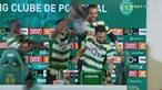 Jogadores invadem conferência de imprensa de Amorim e dão banho de champanhe ao treinador