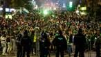 Três detidos, 30 identificados e quatro polícias feridos durante festa do Sporting