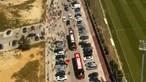 Autocarro do Benfica chega à Luz com segurança muito apertada