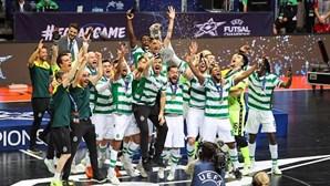 Sporting conquista Liga dos Campeões em futsal ao vencer o Barcelona