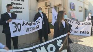 Alunos de Universidade do Algarve reeinvidicam por melhores condições no campus