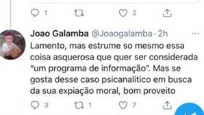 """Secretário de Estado apaga post em que apelida de """"estrume"""" e """"coisa asquerosa"""" o """"Sexta às 9"""" da RTP"""