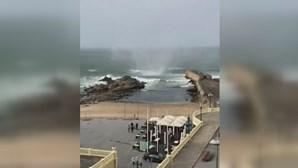 Mini-tornado provoca estragos junto à Foz do Douro, no Porto