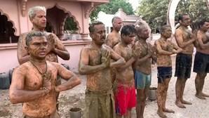 Novo ritual para a cura da Covid-19 com banho de excrementos preocupa especialistas na Índia