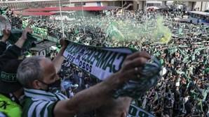 Autocarro do Sporting já está a caminho do Estádio de Alvalade