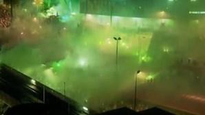 Alvalade vestiu-se de verde numa festa contida pela pandemia