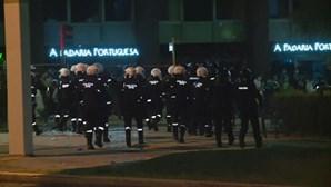Vários feridos após confrontos entre polícia e adeptos do Sporting no Marquês