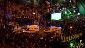 Sporting campeão: Marquês em euforia total numa festa marcada por desacatos