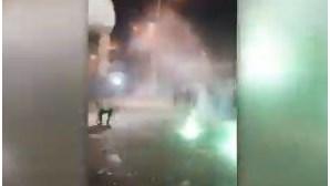 Imagens mostram tentativas da PSP para conter desacatos de adeptos do Sporting em Alvalade