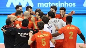 Portugal vence Bielorrússia e fica mais próximo do Europeu de voleibol