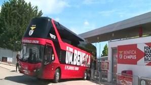 Autocarro do Benfica já está a caminho do Estádio da Luz