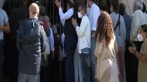 Centenas de pessoas no último adeus a Maria João Abreu