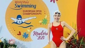 Portuguesa Renata Pinto conquista bronze nos europeus de natação adaptada