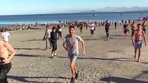 Seis mil migrantes marroquinos entraram em Ceuta num dia