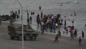 Espanha envia blindados e exército para a fronteira com Ceuta após entrada de seis mil migrantes num dia