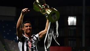 Cristiano Ronaldo ganhou 21.ª de 28 finais ao jogar os 90 minutos no triunfo da Juventus sobre a Atalanta