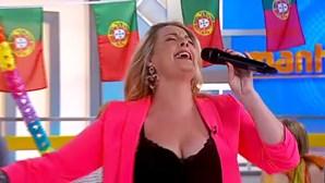 Micaela cantou os seus grandes êxitos na festa da música do Manhã CM