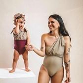 Mel Jordão e Penélope numa campanha de moda