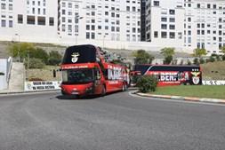 Chegada do Benfica ao Estádio da Luz