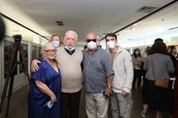 Ruy de Carvalho com a família no evento