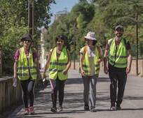 Família de peregrinos de Oliveira de Azeméis a caminho do Santuário