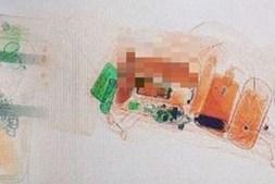 Segurança divulgou imagem dos brinquedos sexuais da mulher