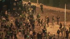 Polícia obrigada a disparar em Alvalade