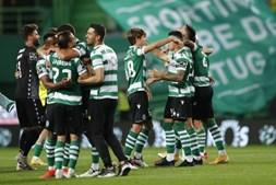 Rúben Amorim festeja título de campeão com equipa leonina