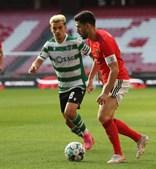 Pote (Sporting) e Pizzi (Benfica): duelo entre os melhores em campo