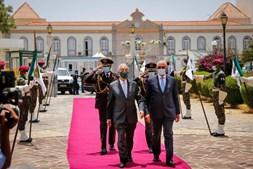 Marcelo Rebelo de Sousa durante visita a Cabo Verde