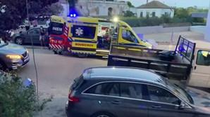 Vítima socorrida por INEM e bombeiros