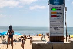 Sinalética de ocupação das praias vai voltar: até 50% a cor é verde