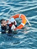 Juanfran com o bebé que salvou