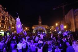 Festa do Chelsea nos Aliados, no Porto